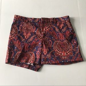 Banana Republic Womens Paisley Chino Shortas